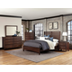 All-American Commentary 4pc Benchback Bedroom Set in Cherry
