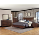 All-American Commentary 4pc Wing Bedroom Set in Cherry
