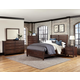 All-American Commentary 4pc Benchback with Storage Bedroom Set in Cherry