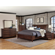 All-American Commentary 4pc Wing with Storage Bedroom Set in Cherry