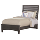 All-American Commentary Twin Benchback Bed in Steel