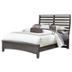All-American Commentary Queen Benchback Bed in Steel