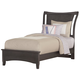 All-American Commentary Twin Wing Bed in Steel