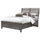 All-American Commentary Queen Benchback with Storage Bed in Steel