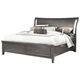 All-American Commentary King Wing Bed with Storage in Steel