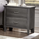 All-American Critique 2 Drawer Nightstand with Charging Station in Steel