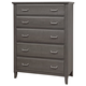 All-American Commentary 5 Drawer Chest in Steel