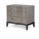 Legacy Classic Symphony Nightstand in Platinum & Black Tie 5640-3100 PROMO CLEARANCE