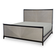 Legacy Classic Symphony Queen Panel Bed in Platinum and Black Tie 5640-4105K