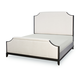 Legacy Classic Symphony California King Upholstered Bed in Platinum and Black Tie 5640-4207K