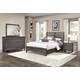 All-American Commentary 4pc Benchback Bedroom Set in Steel