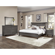 All-American Critique 4pc Wing Bedroom Set in Steel