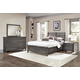 All-American Critique 4pc Benchback with Storage Bedroom Set in Steel