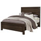 All-American Providence Queen Planked Panel Bed in Highly Figured Walnut