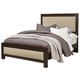 All-American Providence Queen Upholstered Bed in Highly Figured Walnut