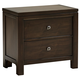 All-American Providence 2 Drawer Nightstand in Highly Figured Walnut