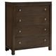 All-American Providence 4 Drawer Chest in Highly Figured Walnut