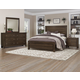 All-American Providence 4pc Planked Panel Bedroom Set in Highly Figured Walnut
