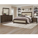 All-American Providence 4pc Upholstered Bedroom Set in Highly Figured Walnut