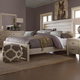 All-American Providence Queen Planked Panel Bed in Sandstone Oak