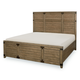 Legacy Classic Metalworks California King Panel Bed in Factory Chic 5610-4107K