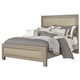 All-American Providence King Upholstered Bed in Sandstone Oak
