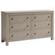 All-American Providence 6 Drawer Dresser in Sandstone Oak