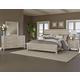 All-American Providence 4pc Planked Panel Bedroom Set in Sandstone Oak