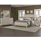 All-American Providence 4pc Upholstered Bedroom Set in Sandstone Oak