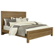 All-American Providence King Planked Panel Bed in Rustic Maple