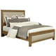 All-American Providence King Upholstered Bed in Rustic Maple