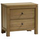 All-American Providence 2 Drawer Nightstand in Rustic Maple