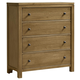 All-American Providence 4 Drawer Chest in Rustic Maple