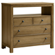 All-American Providence 4 Drawer Media Chest in Rustic Maple