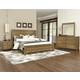 All-American Providence 4pc Planked Panel Bedroom Set in Rustic Maple