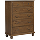 All-American Nordic Kingdom 5 Drawer Chest in Antique Cherry