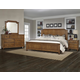 All-American Arrendelle 4pc Mansion Bedroom Set in Antique Cherry