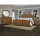 All-American Arrendelle 4pc Poster Bedroom Set in Antique Cherry