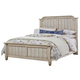 All-American Nordic Kingdom Queen Mansion Bed in Rustic White with Cherry