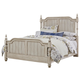 All-American Arrendelle Queen Poster Bed in Rustic White with Cherry