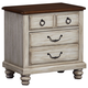All-American Arrendelle Nightstand in Rustic White with Cherry