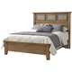 All-American Cassell Park Queen Tile Bed in Natural