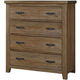 All-American Cassell Park 4 Drawer Storage Chest in Natural