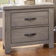 All-American Gramercy Park 2 Drawer Nightstand in Weathered Gray