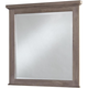 All-American Gramercy Park Landscape Mirror in Weathered Gray
