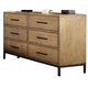 Ligna Brentwood 6 Drawer Dresser in Weathered Pier 9526 WP