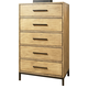 Ligna Brentwood 5 Drawer High Chest in Weathered Pier 9524 WP