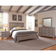 All-American Cassell Park 4pc Plank Bedroom Set in Weathered Gray