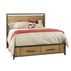Ligna Brentwood Queen Storage Bed in Weathered Pier