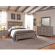 All-American Cassell Park 4pc Tile Bedroom Set in Weathered Gray